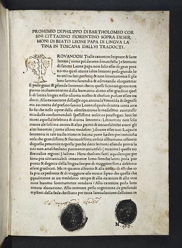 Unidentified book stamps in Leo I, Pont. Max.: Sermones [Italian]