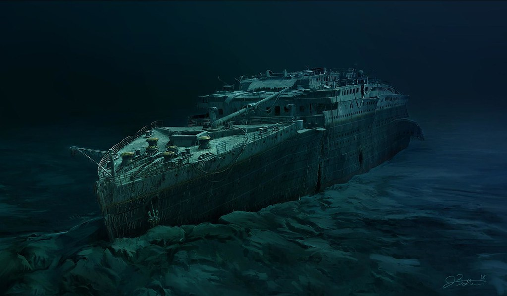 Titanic Wreck 2012 starboard bow profile by lusitania25 on DeviantArt