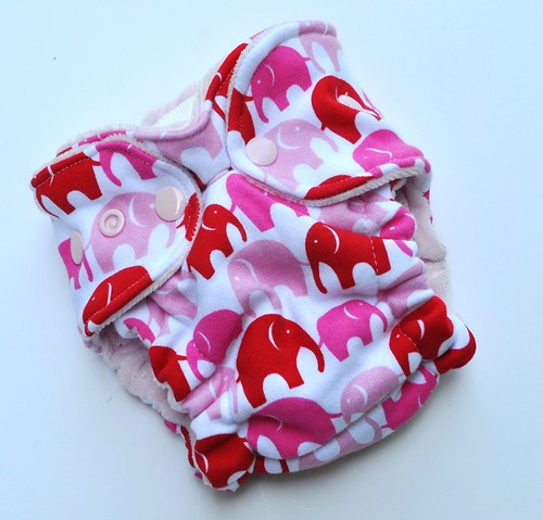 Bumstoppers Newborn Pink Elephant Fitted