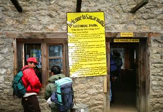 Sagarmatha National Park Jorsale Entrance