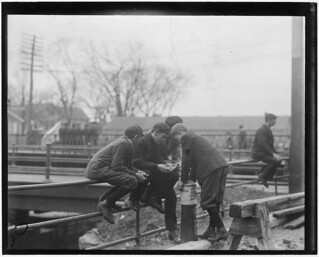 Noon hour card game - Mill Boys. Pacific Mills. Lawrence, Mass, November 1910