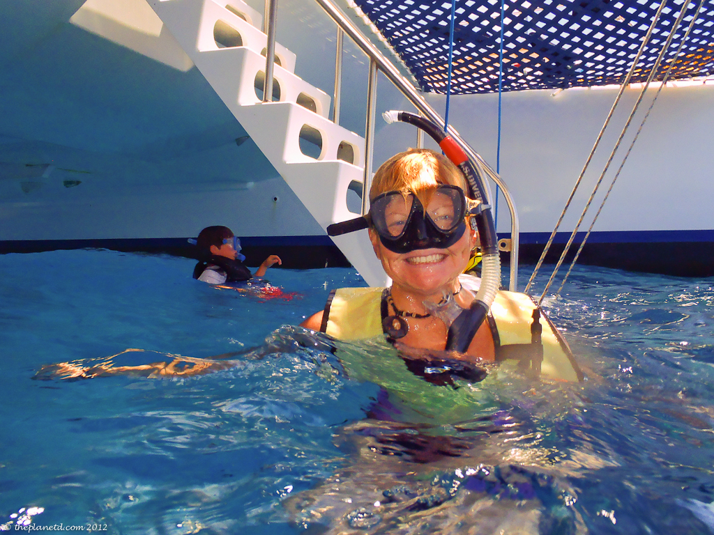 Adventure Travel Blogger Deb snorkels in Hawaii