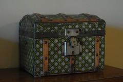 art, furniture, wood, iron, box, suitcase,