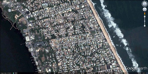 Outer Banks near Duck, NC (via Google Earth)