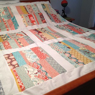 @katespain quilt top DONE!!! Now, who wants to come baste this mother? ☺ #sewing #quilting #katespain #nofilter