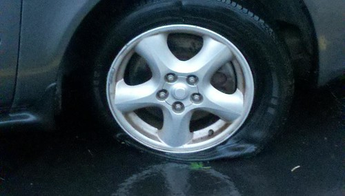 Punctured Tire