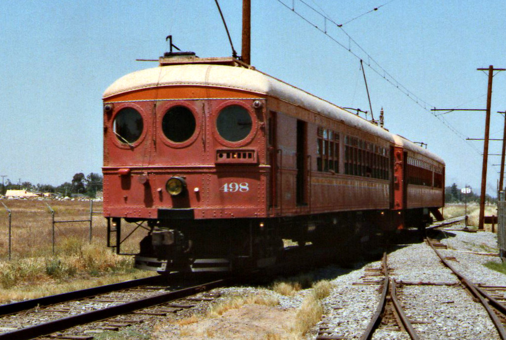"Pacific Electric Baggage/Passenger ""Blimp"" #498 At Orange Empire Railway Museum"