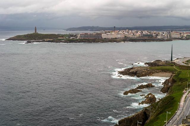 Vista general desde el mirador de San Pedro - Coruña