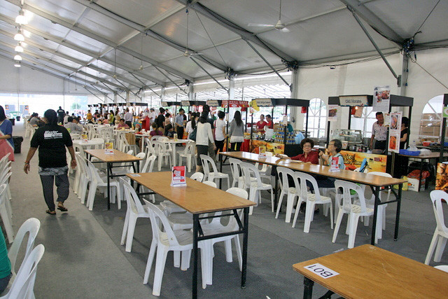 The Singapore Food Festival Village has three times more space