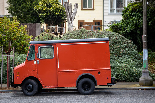 Street Parking: Red Van by the other Martin Taylor