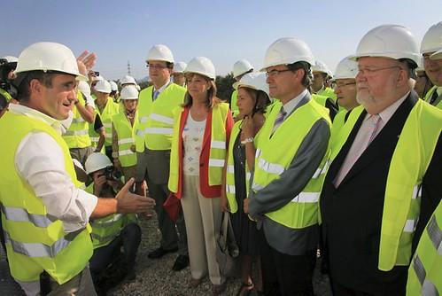 Artur Mas visita las obras del Centre de Formació de l'Automoció en Martorell