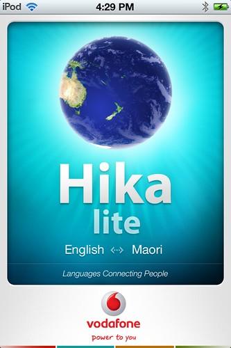 Favorite Apps: Hika (2012) #maori #indigenous #language #newzealand #vodafone