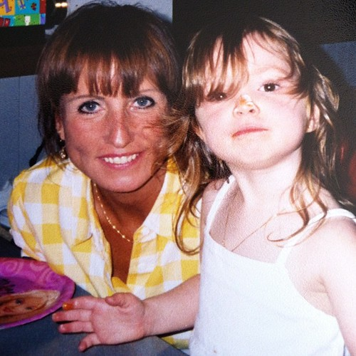 my mom with a younger mackenzie. This one on the blog too today. #sixcherries #shesthemack