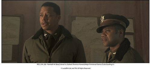 Terrence Howard and Cuba Gooding Jr., Red Tails (2012)