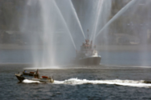 SFD (Seattle Fire Dept) water salute