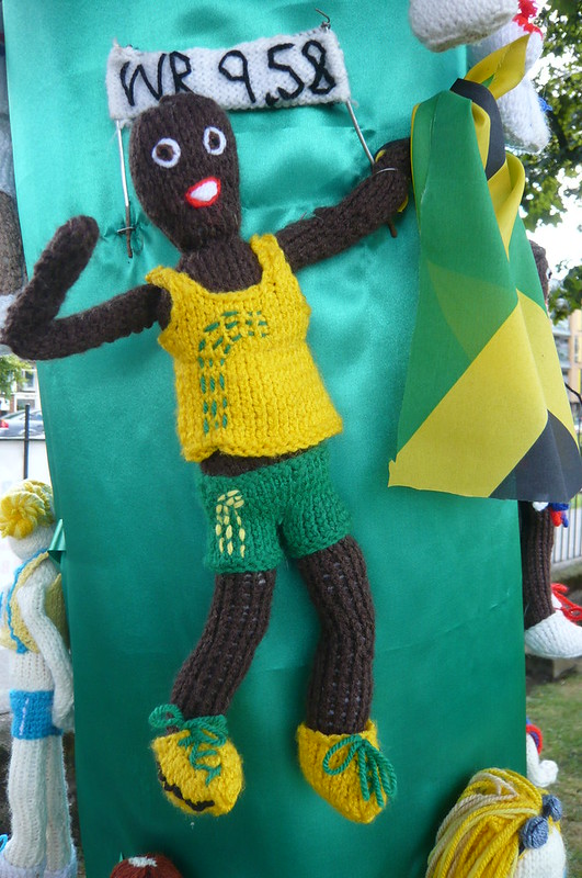 Look! It's A Knitted Usain Bolt!
