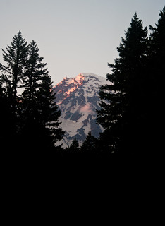 Last Light on Rainier