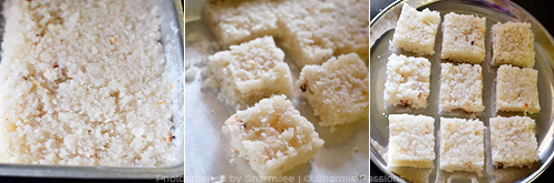 How to make coconut burfi - Step5