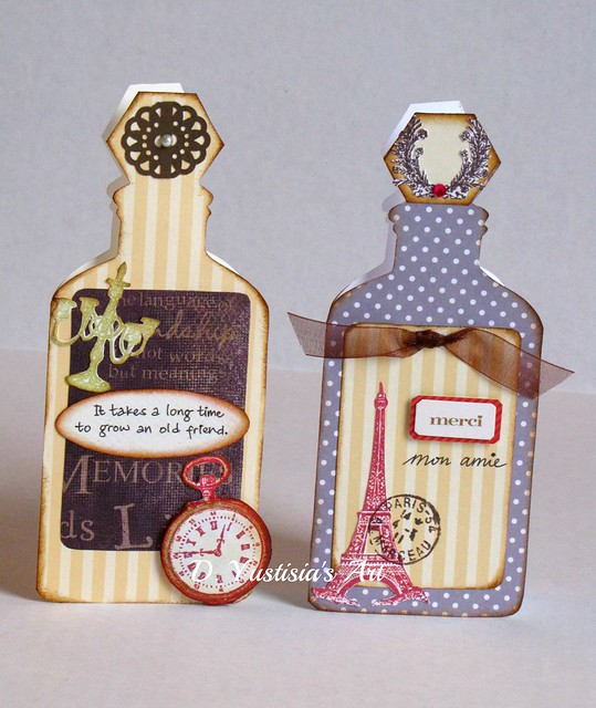 Antique Bottle inspired cards