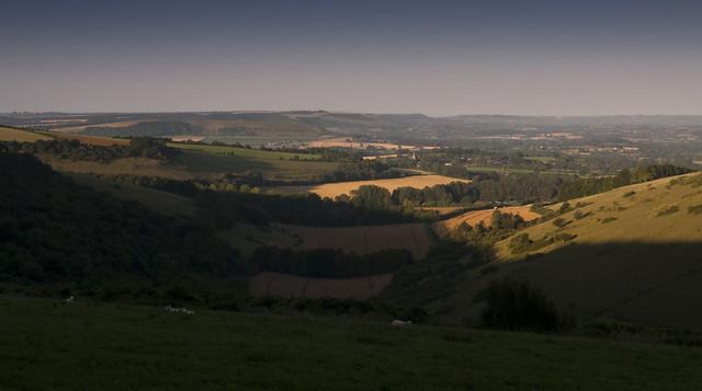 sunrise on the Blackmore Vale