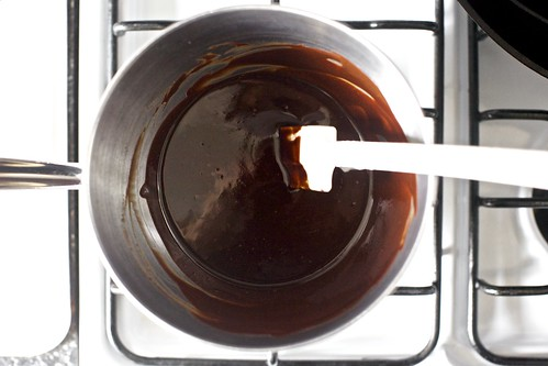 melting the chocolate and butter