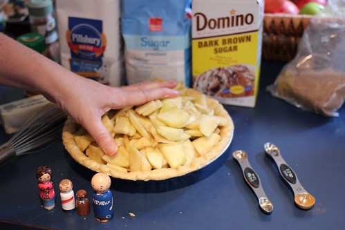 Leah making Dutch apple pie.