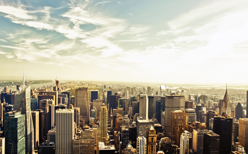 The New York City Skyline from Above
