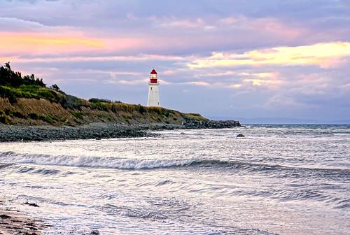 [フリー画像素材] 建築物・町並み, 灯台・ライトハウス, 海, 風景 - カナダ ID:201303031600