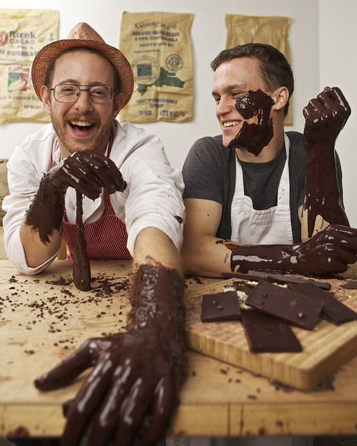 Nate Hodge and Ryan Cheney of Brooklyn's Raaka Chocolate. Photo by Mike Grippi.