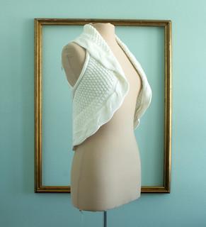 cream knit vest side