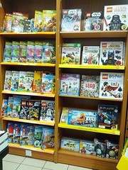 Waterstones LEGO book selection