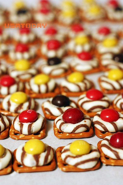 紐扣巧克力扭結餅 M&M with pretzel 5
