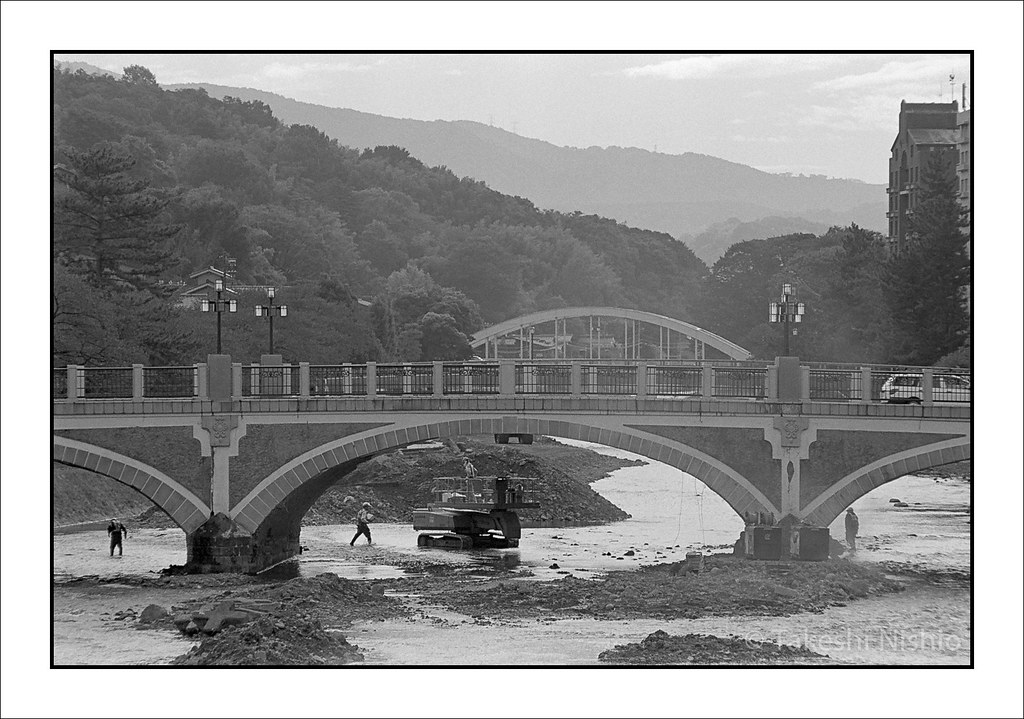 現場仕事, 浅野川大橋 / Construction work, Asano-gawa-ohashi bridge