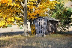 """The Old Corn-Crib""  Historic (Martin Basch Farm) Port Oneida, Sleeping Bear Dunes National Lakeshore by Michigan Nut"