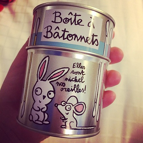 Favourite purchase. Because who doesn't need a crazy bunny tin for storing cotton buds?