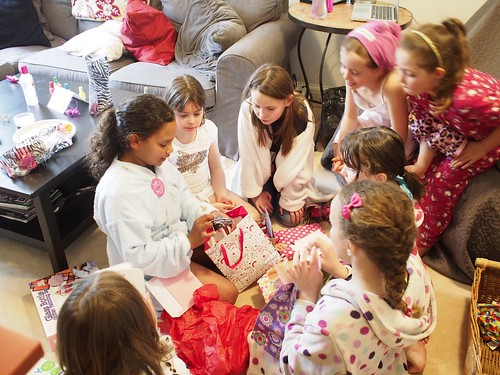 girl's party, birthday, spa, 9 years old
