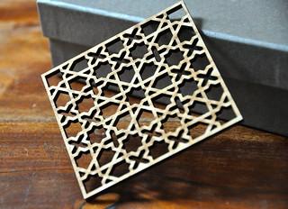Laser-cut Zellij screen