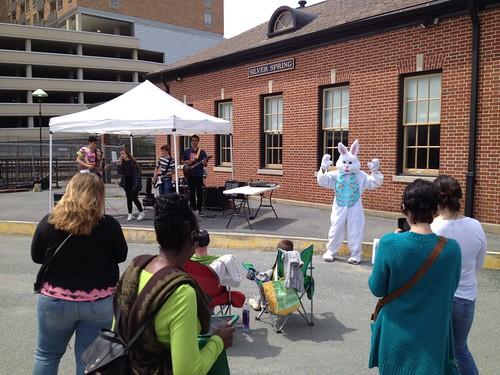 Easter Bunny Dances During School of Rock Performance