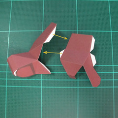 วิธีทำโมเดลกระดาษตุ้กตาคุกกี้รัน คุกกี้รสฮีโร่ (LINE Cookie Run Hero Cookie Papercraft Model) 012