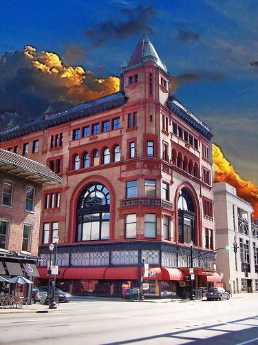 old windows sunset building st architecture clouds downtown factory market kentucky ky w style arches historic condo historical louisville register spaghetti romanesque levy condominiums 235 jeffersoncounty richardsonian nrhp onasill