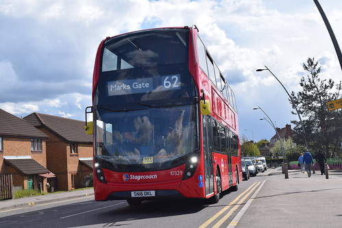 Stagecoach 10329 on Route 62, Chadwell Heath