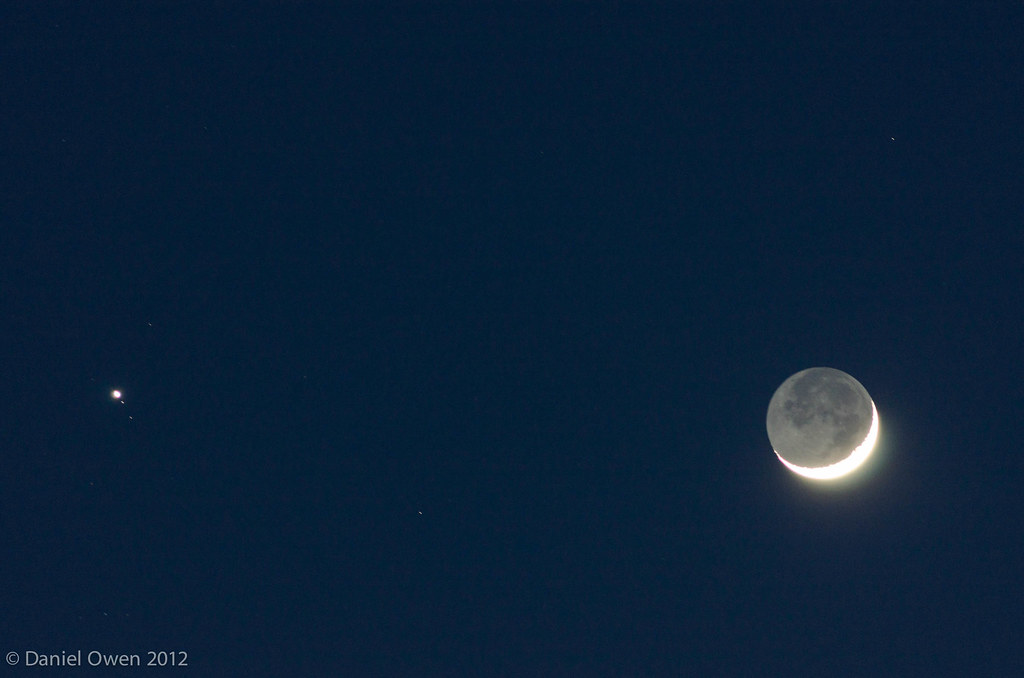 Moon and star