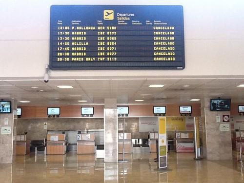 Aeropuerto de Granada en huelga