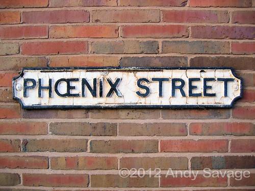 Phoenix Street Sign, Derby