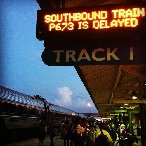 Train Delay Fort Lauderdale #fml #beachedmiami