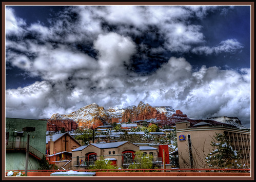 Sedona, Arizona / The View From Downtown Public Parking March 2012