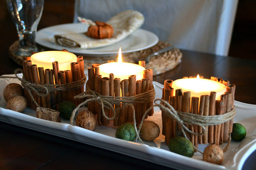 CInnamon stick candles, except do mine as water candles