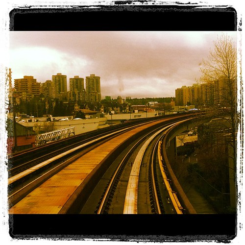 Approaching #newwest via Skytrain cc @translink