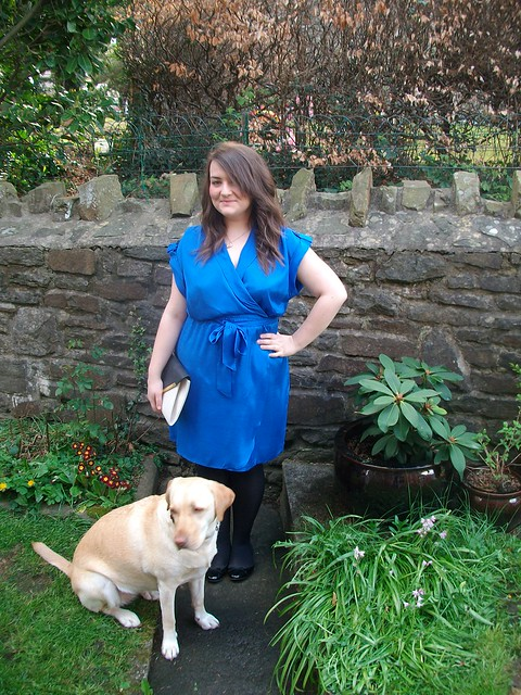blue wrap over dress - Copy