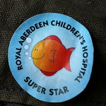 Super star sticker for being good boy whilst glued together